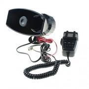 GAMPRO Car Siren Speaker,12V 80W 7 Tone Sound Car Siren Vehicle Horn With Mic PA Speaker System Emergency Sound Amplifier