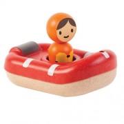 Drewniana zabawka do kąpieli, do wanny - łódź ratownicza, Plan Toys
