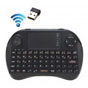 Viboton X3 83 Teclas Qwerty Mini Teclado Inalambrico Con Touchpad De 2,4 Ghz Y 3 Indicador Led Para Pc / Pad / Android / Google Tv Box / Xbox360 / Ps3 / Htpc / Iptv (negro)