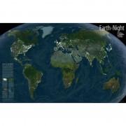 Harta lumii Pământul noaptea - hartă de perete National Geographic