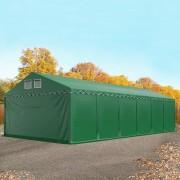 tendapro.it Tendone deposito 6x12m, Tenda stoccaggio, magazzino PVC verde scuro XXL Tendostruttura