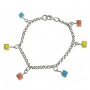 Children's Building Blocks Sterling Silver Bracelet