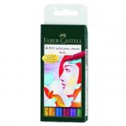 Pitt Artist Pen Set Faber-Castell 6 buc culori de baza