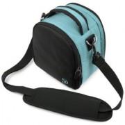 VanGoddy Laurel Carrying Bag for Nikon Coolpix L840 / L830 / L340 / L320 L820 / L610 / L810 / L120 / L110 / L100 Digital SLR Cameras (Sky Blue)