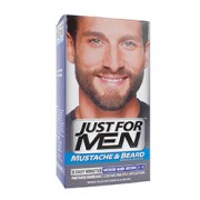 JUST FOR MEN MUSTACHE & BEARD BRUSH-IN COLOUR GEL (Medium-Dark Brown)