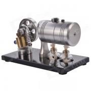 Juguete del modelo del motor de vapor del cilindro de DIY - plata + cobre antiguo