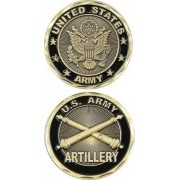 United States Military US Armed Forces Army Artillery Unit- Good Luck Double Sided Collectible Chall