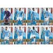 Match Attax 2015/2016 Manchester City Team Base Set Plus Star Player, Captain & Away Kit Cards 15/16
