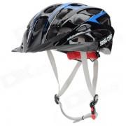 BaseCamp 023 de proteccion al aire libre Deportes PC Casco para bicicleta - Negro + Azul Cielo