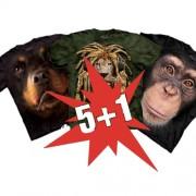 Super zľava 5 + 1 Zvieracie Hi-Tech tričko zdarma