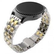 Tonsee Edelstahl Luxus Mode Design Uhr-Band für Samsung Galaxy Gear S2 klassische SM R732,gold