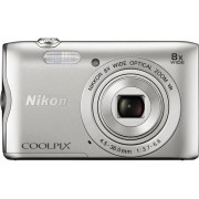 Aparat Foto Digital NIKON COOLPIX A300, Filmare HD, 20.1 MP, Zoom Optic 8x (Argintiu)