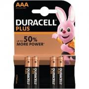Pack de 4 piles AAA Duracell Plus Power (MN2400B4)