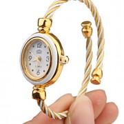 Mulheres Relógio de Moda Quartz Lega Banda Bracelete Branco marca-