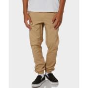 Rusty Cotton Spandex Fennel Elastic Cuffs Drop Crotch Mens Chino Pants