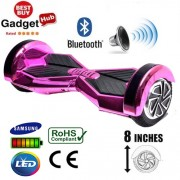8″ Purple Chrome Bluetooth Segway Hoverboard + FREE Carry Case