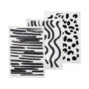 ferm Living - Brush Geschirrtücher (3er-Set), schwarz