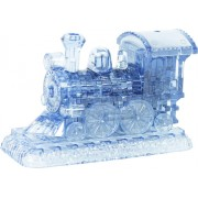 Crystal puzzle 3d stoomlocomotief blauw- 38-delig