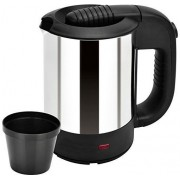 Shrih SH - 02644 Portable Stainless Steel 0.5 L Electric Kettle(0.5 L, Black)
