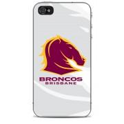 NRL Licensed Brisbane Broncos Watermark Back Case for iPhone 4/4S
