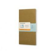 Moleskine Chapters Journal, Slim Pocket, Ruled, Tawny Olive, Soft Cover (3 X 5.5)