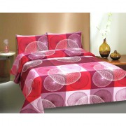 Ctm Textile Mills Multicolor Poly Cotton Double Bed Sheets With 2 Pillow Cover High Wash Fastness And Soft Finish(RTL-647)