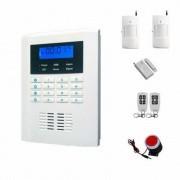 """IP-AP021 - безжична GSM аларма за дома с 2.1"""" LCD дисплей, клавиатура, 2 обемни датчиказа движение, 1 МУК за врата и 2 дистанционни"""