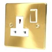 Dalton Electrical Accessories C409BBW - Spina con interruttore, 13 amp, ottone satinato