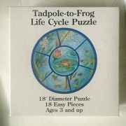 "Tadpole-to-Frog Life Cycle Puzzle - 18"" Diameter 18 Easy Pieces (#547)"