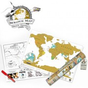 World Map Scratchie Travel Edition