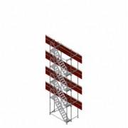 Scafom-rux Gerüsttreppe f. FL 2,5 m, max. Ausstiegshöhe 8 m