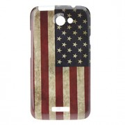 Retro Style The Old Glory Hard Case för HTC G23 One X S720e