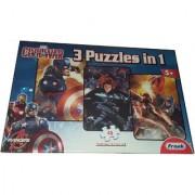 Civil War Captain America 3 puzzle in 1 48 piece