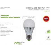 LAMPADINA LED - LINEA COSTO ZERO - 7W=50W LUCE BIANCO CALDO