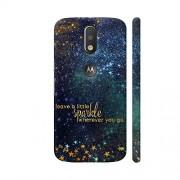Colorpur Leave A Little Sparkle Wherever You Go Artwork On Motorola Moto G4 / Moto G4 Plus Cover Cover (Designer Mobile Back Case) | Artist: UtART