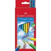 Faber-Castell 116510 Crayons de couleur triangulaire Jumbo avec Taille-crayon (Lot de 10)