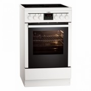 Aragaz electric AEG 47095VD-WN, 50 cm, alb, clasa A-10%
