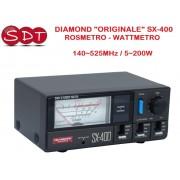 """DIAMOND """"ORIGINALE"""" SX-400N ROSMETRO - WATTMETRO 140~525MHz / 5~200W"""