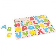 Bigjigs Toys BJ755 Inset Puzzle Uppercase Alphabet