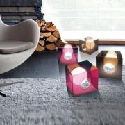 Lampada di design De+light Mark Hygge moderna quadrata in acrilico lucido