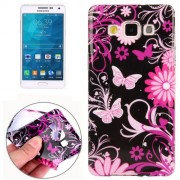 Butterfly Loves Flower Pattern TPU Protective Case for Samsung Galaxy A5 / A500F