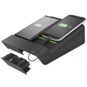 Duo-incarcator de birou LEITZ Complete, pentru 2 smartphone-uri sau o tableta PC - negru