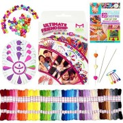 Premium Friendship Bracelet Maker - Large 161 Piece Bracelet/Jewelry Making Kit - Best Birthday/Christmas Gifts - 20 Bracelets Patterns E-Book DIY for Kids