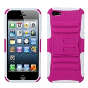 Funda Protector Rosa con Morado Mixto con Pie Iphone 5