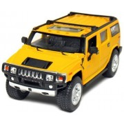 "6 Pcs In Box: 6"" 2008 Hummer H2 Suv 1:32 Scale (Black/Red/Yellow)"