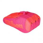 Wilson-Burn Team Rush 12 rachete rosu neon/roz