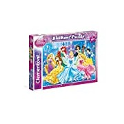 Clementoni 20128.0-Puzzle Princess, Brilliant, 104-Piece