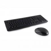 Kit tastatura si mouse Logic LKM-101W fara fir Black
