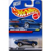 Hot Wheels 1999 1:64 Scale Blue 1970 Ford Mustang Mach 1 Diecast Car Collector #1105