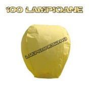 100 Lampioane Zburatoare Galbene